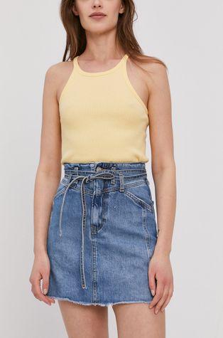 Pepe Jeans - Rifľová sukňa Raisa
