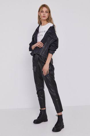 AllSaints - Spodnie skórzane