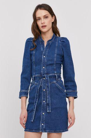 Pepe Jeans - Rifľové šaty Dolly