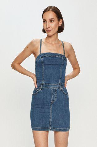 Pepe Jeans - Sukienka jeansowa Candi x Dua Lipa