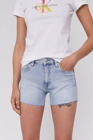 Calvin Klein Jeans - Rifľové krátke nohavice