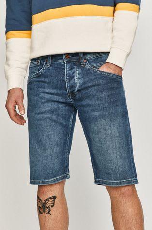 Pepe Jeans - Rifľové krátke nohavice Track