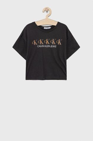 Calvin Klein Jeans - Detské bavlnené tričko