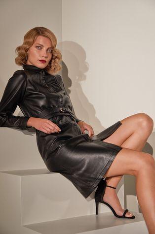 Answear.LAB limitovaná kolekce - Kožené šaty