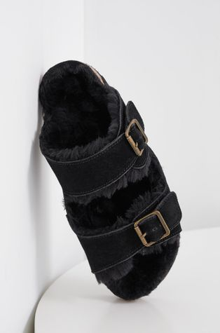 Answear Lab - Papuci din piele intoarsa