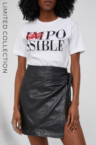 Answear Lab - Kožená sukně z narozeninové kolekce