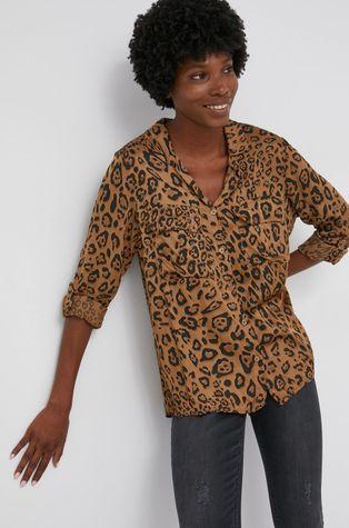 Answear Lab - Koszula z domieszką jedwabiu
