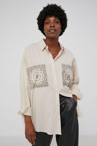 Answear Lab - Koszula z domieszką wełny