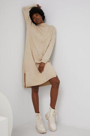 Answear Lab - Sukienka z domieszką wełny