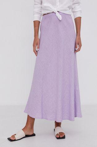 Answear Lab - Lněná sukně Pure Linen