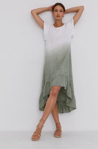 Answear Lab - Sukienka lniana Pure Linen Hand Crafted