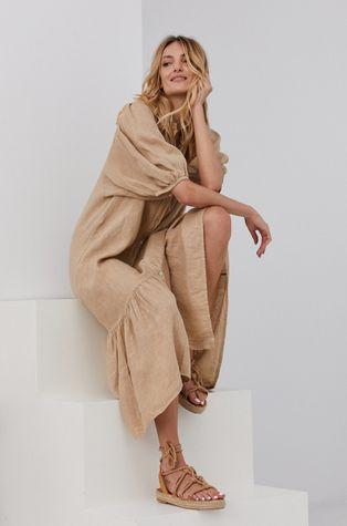 Answear Lab - Ľanové šaty Pure Linen