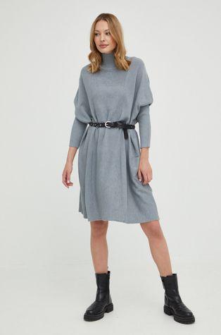 Answear Lab - Šaty s vlněnou směsí s vlněnou směsí s vlněnou směsí