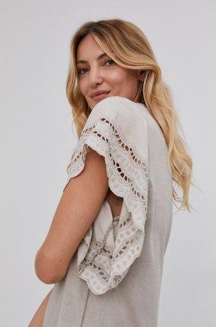 Answear Lab - Bavlněné tričko Garment Dyed