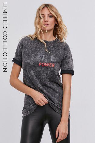 answear.LAB X Limitovaná kolekce GIRL POWER - Bavlněné tričko, model HAND DYED