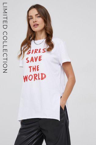 T-shirt bawełniany answear.LAB X kolekcja limitowana GIRL POWER