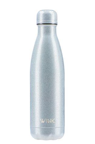Wink Bottle - Butelka termiczna GLITTER SILVER