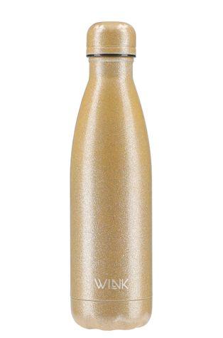 Wink Bottle - Butelka termiczna GLITTER GOLD