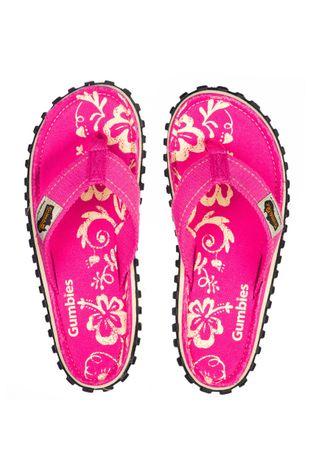 Gumbies - Σαγιονάρες Islander Pink Hibiscu