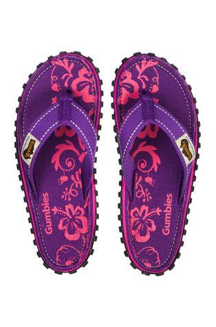 Gumbies - Σαγιονάρες Islander Purple Hibiscu