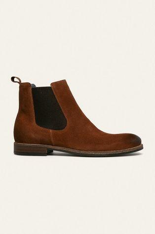 Wojas - Kožené topánky Chelsea