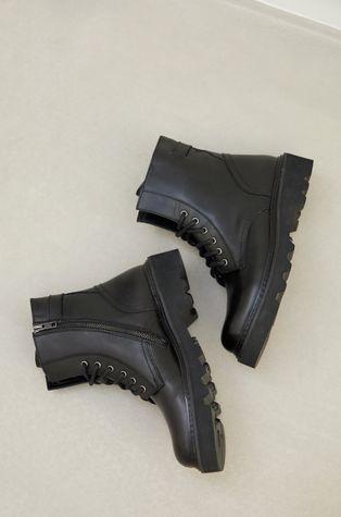 answear.LAB X Limitovaná kolekce GIRL POWER - Kožené kotníkové boty