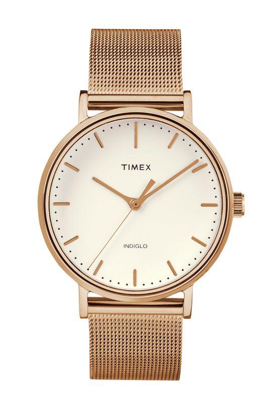 złoty Timex - Zegarek TW2R26400 Damski