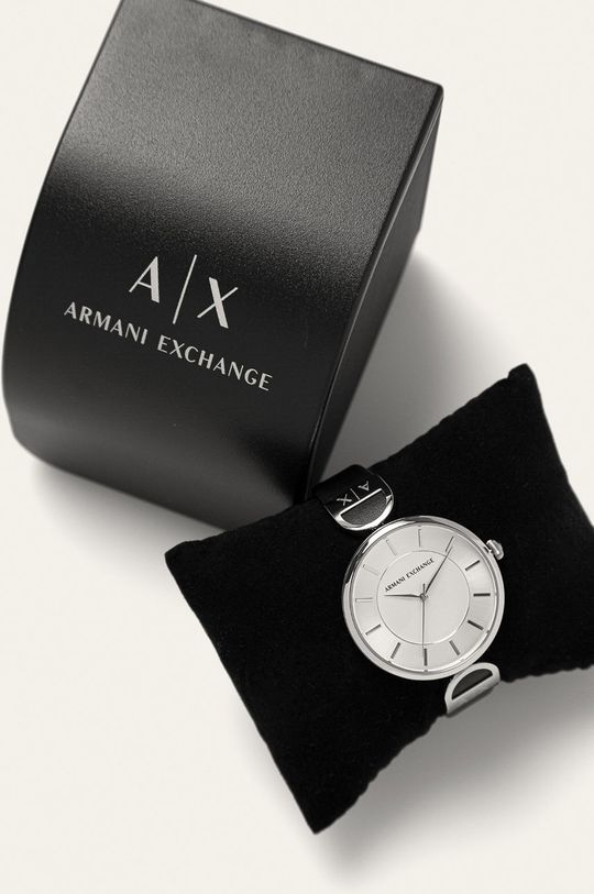 Armani Exchange - Hodinky AX5323  Přírodní kůže, Nerezová ocel, Minerální sklo