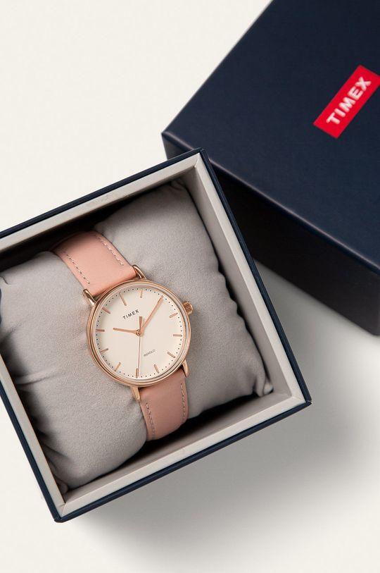 Timex - Hodinky TW2T31900 Mosaz, Přírodní kůže, Minerální sklo