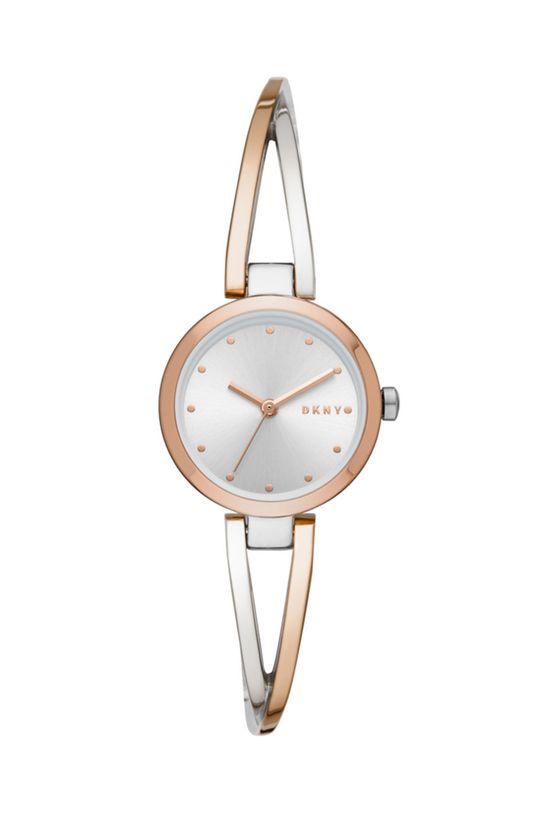 srebrny DKNY - Zegarek NY2791 Damski