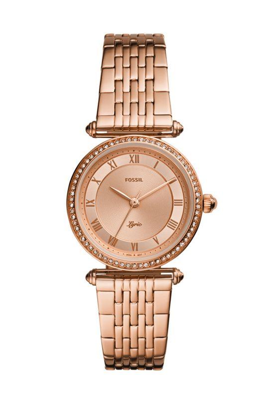 brązowy FOSSIL - Zegarek ES4711 Damski