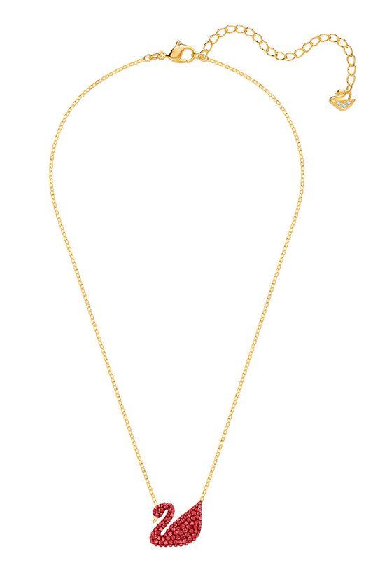 złoty Swarovski - Naszyjnik Iconic Swan Damski