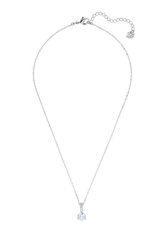 stříbrná Swarovski - Náhrdelník Solitaire Dámský