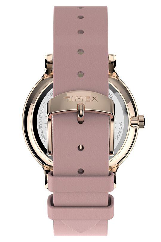 Timex - Zegarek TW2T74300 Mosiądz, Skóra naturalna, Szkło mineralne