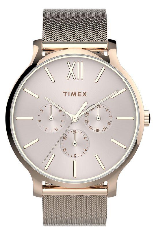 złoty Timex - Zegarek TW2T74500 Damski