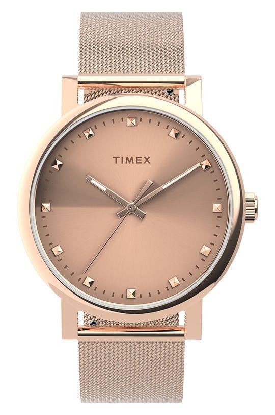 złoty Timex - Zegarek TW2U05500 Damski
