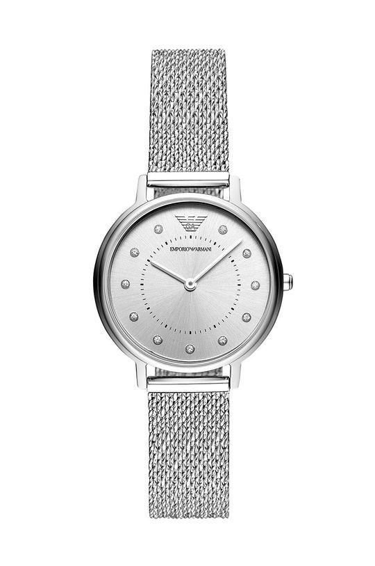srebrny Emporio Armani - Zegarek AR11128 Damski