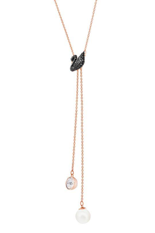 Swarovski - Náhrdelník ICONIC SWAN  Kov, Perla, Svarovského krystal