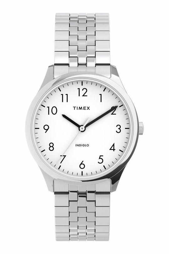 srebrny Timex - Zegarek TW2U40300 Damski