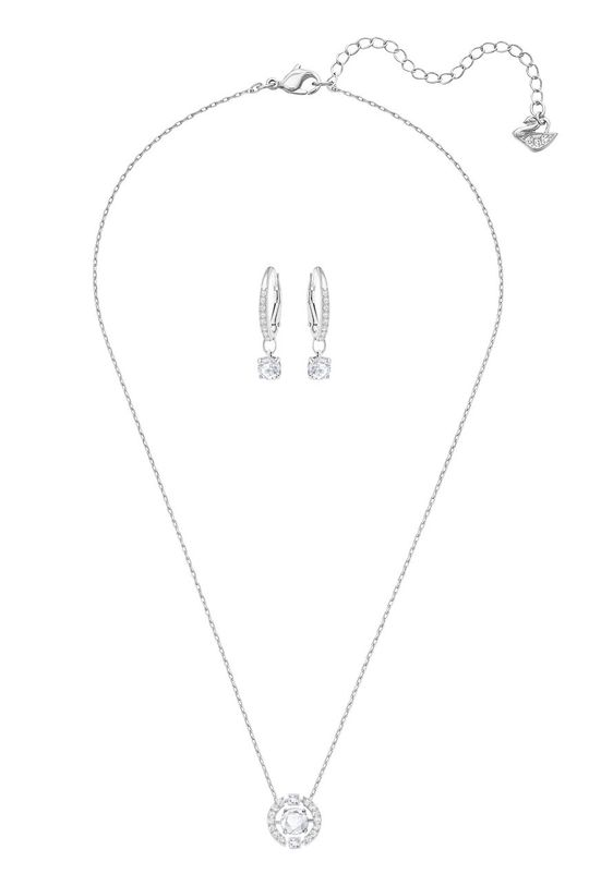 stříbrná Swarovski - Náušnice a náhrdelník SPARKLING DC Dámský