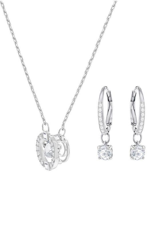 Swarovski - Náušnice a náhrdelník SPARKLING DC stříbrná