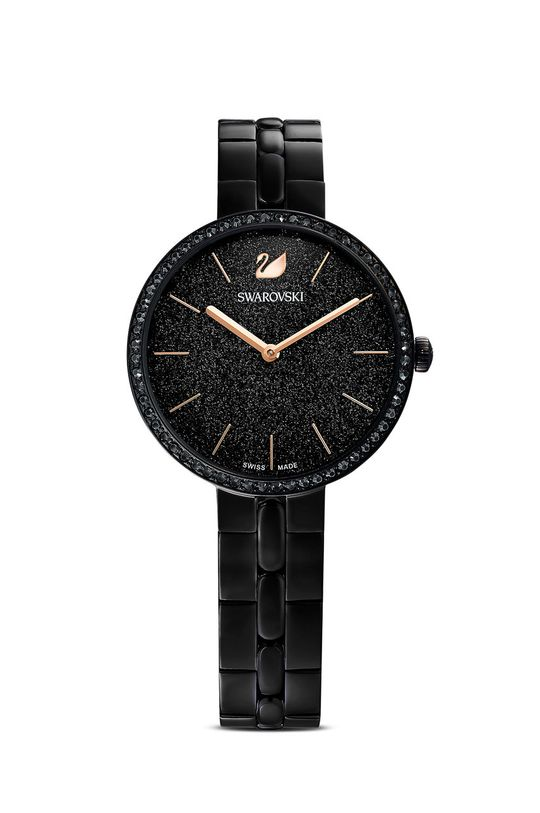 czarny Swarovski - Zegarek COSMOPOLITAN Damski