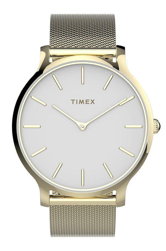 złoty Timex - Zegarek TW2T74100 Damski