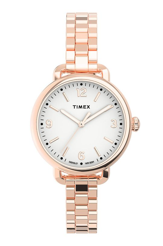 pastelowy różowy Timex - Zegarek TW2U60700 Damski