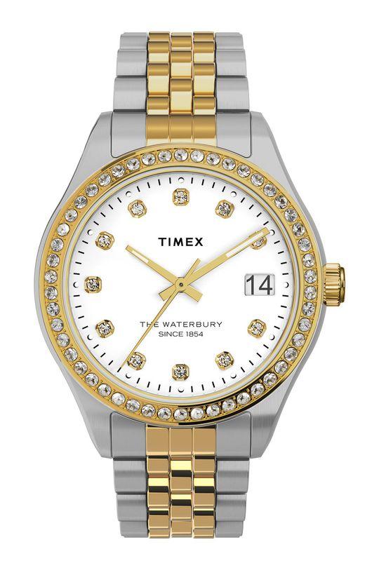srebrny Timex - Zegarek TW2U53900 Damski