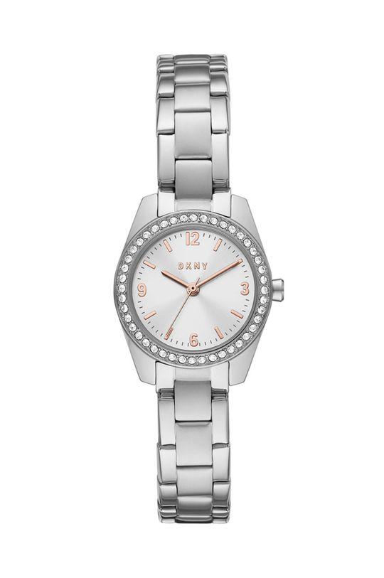 srebrny DKNY - Zegarek NY2920 Damski