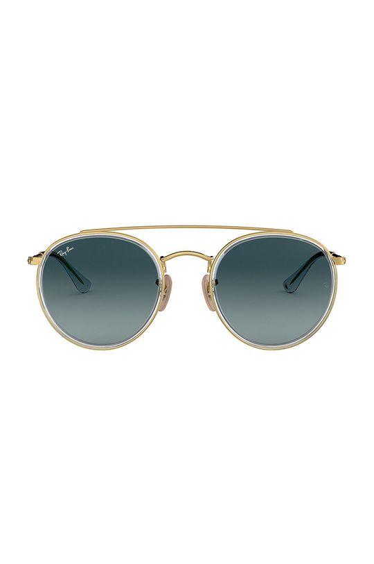Ray-Ban - Brýle ROUND DOUBLE BRIDGE zlatá