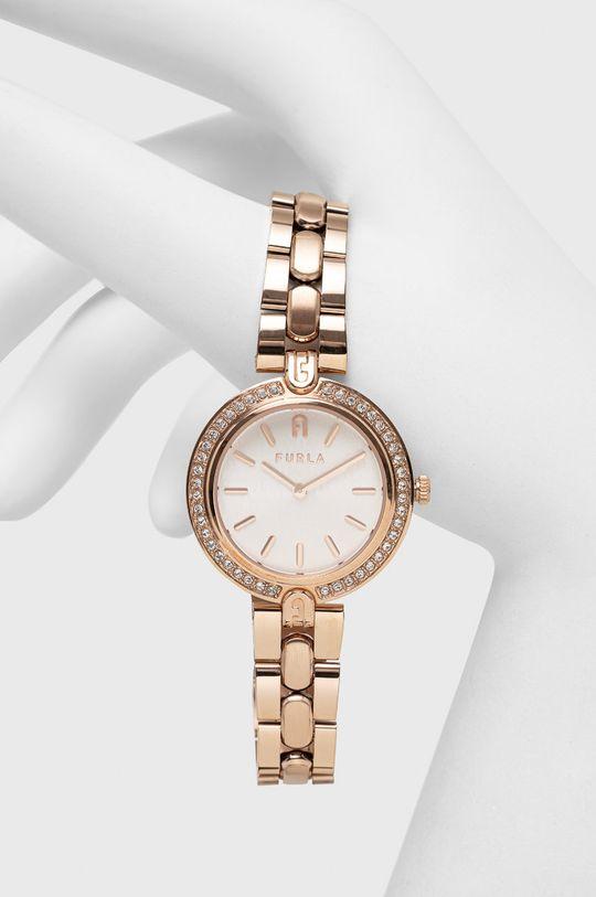 złoty FURLA - Zegarek WW00002003L3 Damski
