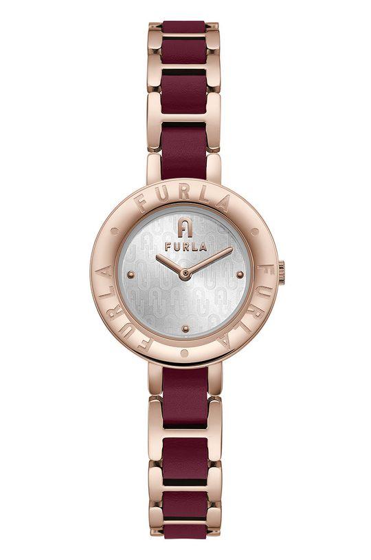 złoty FURLA - Zegarek WW00004012L3 Damski