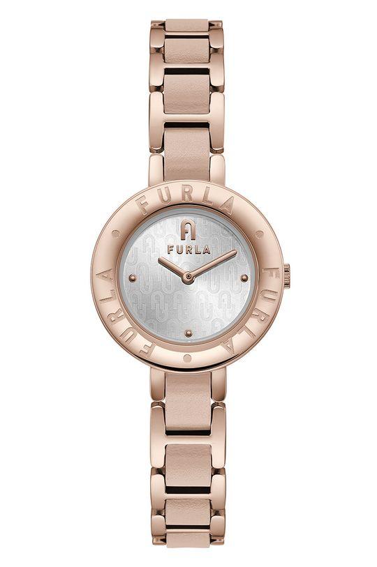 złoty FURLA - Zegarek WW00004013L3 Damski